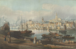View of the port and town of Newcastle-upon-Tyne, from the Rope Walk, Gateshead